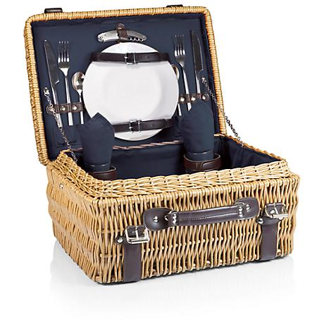 Champion Navy Blue Willow Picnic Basket