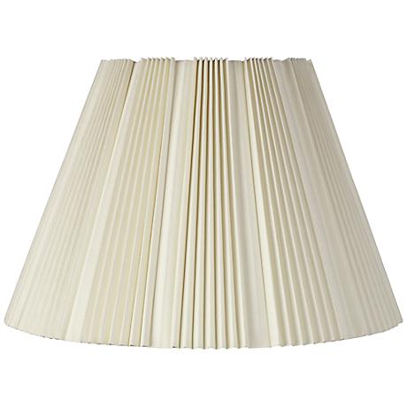 Eggshell Pleated Bell Shade 9.5x19x13 (Spider)