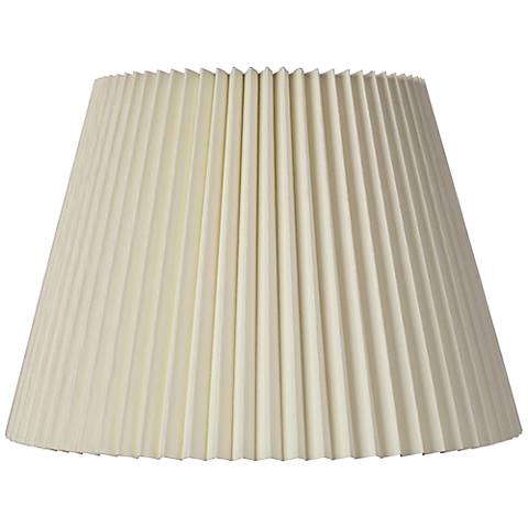 Ivory Linen Knife Pleat Lamp Shade 9x14.5x10 (Spider)