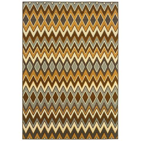 Oriental Weavers Bali 1732D Chevron Indoor-Outdoor Rug