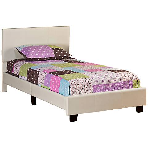 """Hillsdale Springfield """"Bed in a Box"""" Cream Twin Bed"""