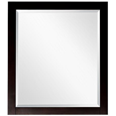 """Avanity Lexington 24"""" Wide Espresso Wall Mirror"""