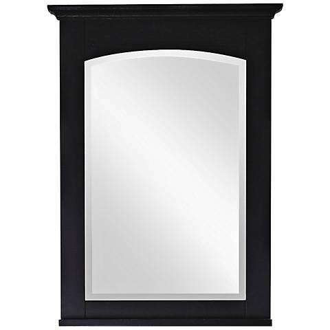 "Avanity Westwood 24"" Wide Ebony Wall Mirror"