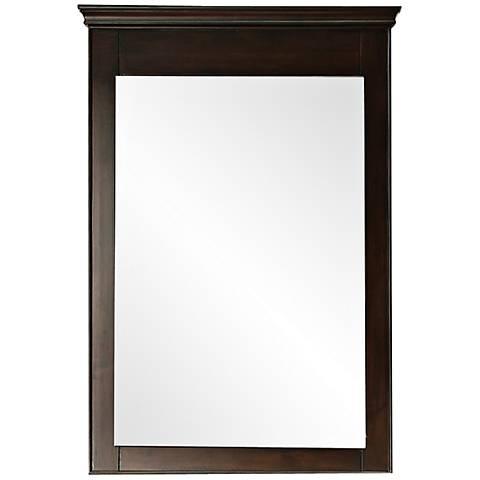 "Avanity Windsor 34"" High Walnut Wall Mirror"