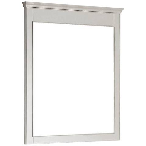 "Avanity Windsor 36"" High White Wall Mirror"