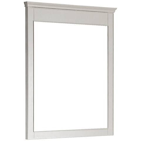 "Avanity Windsor 38"" High Large White Wall Mirror"