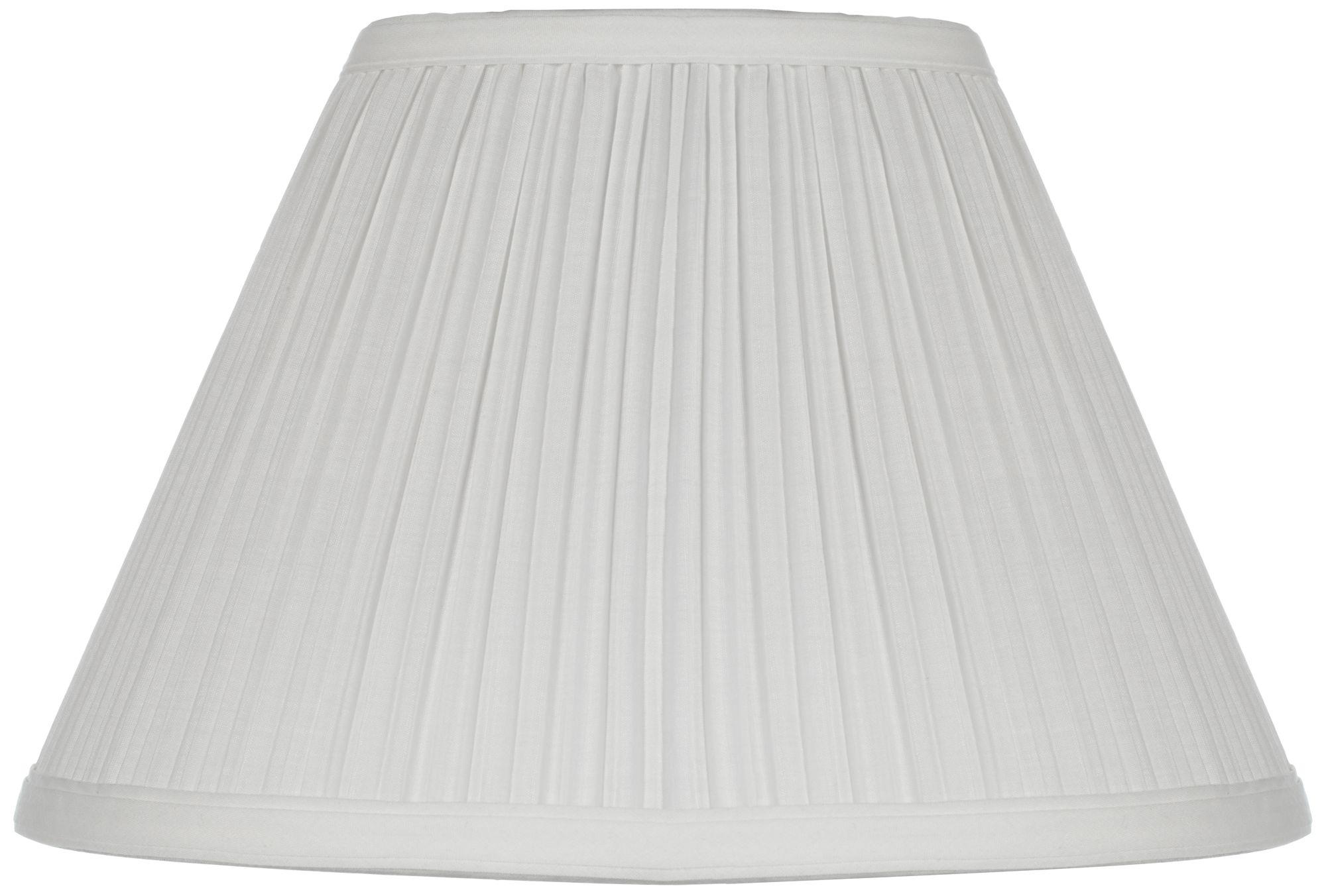 White Mushroom Pleated Lamp Shade 5x11x7.5 (Clip On)