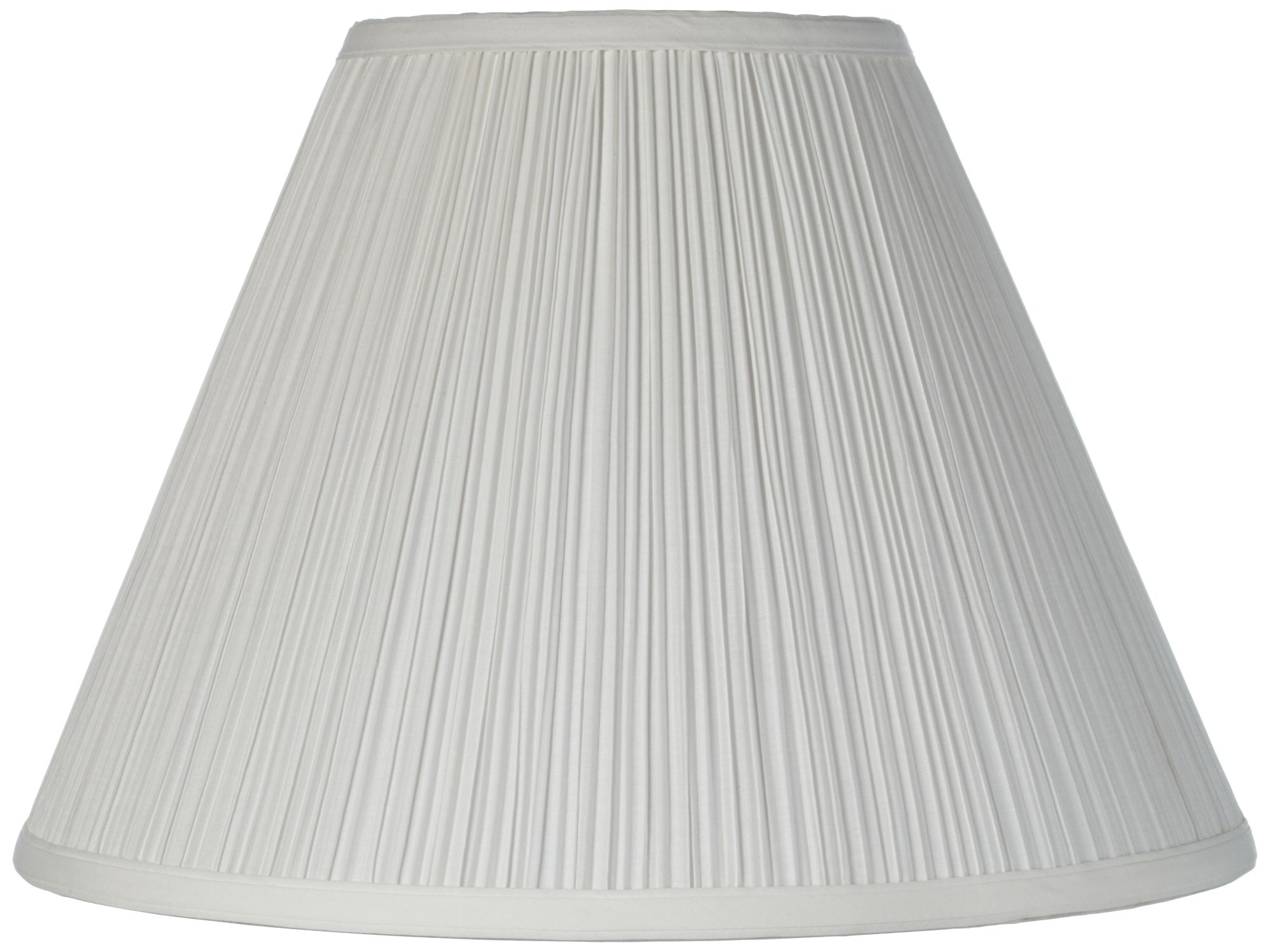 Pleated Drum Lamp Shade White Hollywood Regency Style