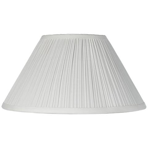 Mushroom Pleated Creme Lamp Shade 6x14x8 Spider 2m867