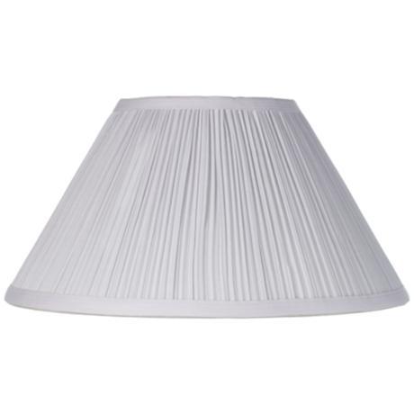 White Mushroom Pleated Lamp Shade 6x14x8 Spider 2m883