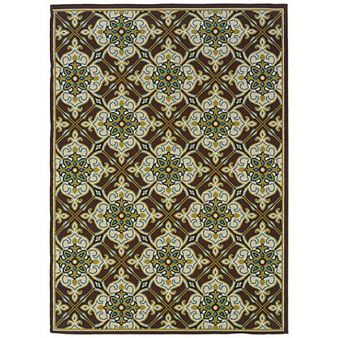 Oriental Weavers Caspian Collection 1005D Indoor-Outdoor Rug
