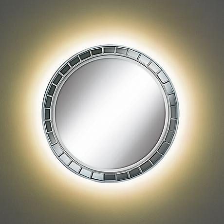 Kesha Antique Silver Mirror with LED Light DIY Kit