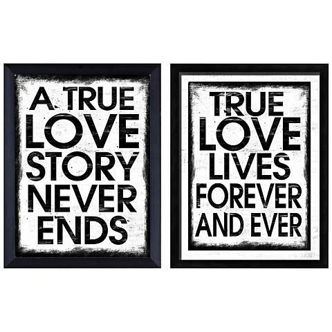 True Love Set of 2 Giclee Print Wall Art