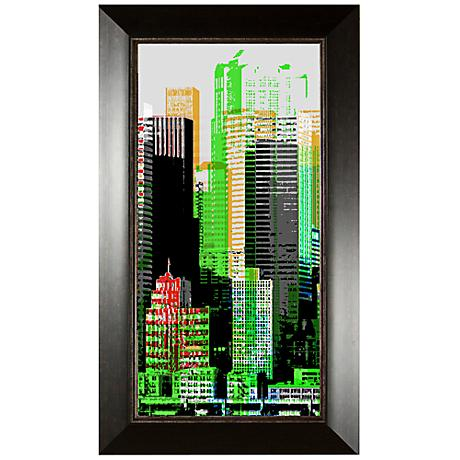 """Skyscraper I 35 3/4"""" High Wall Art"""