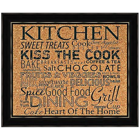 "Kitchen Silkscreened 22"" Wide Corkboard"