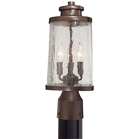 """Travessa Bronze 16 1/4"""" High Outdoor Post Light"""