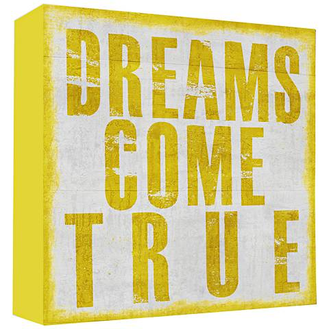 "Dreams Come True 20"" High Canvas Wall Art"