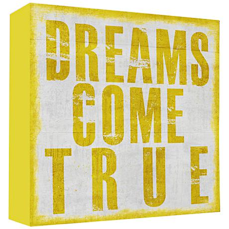 """Dreams Come True 20"""" High Canvas Wall Art"""