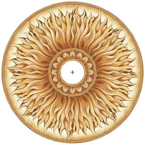 "Southern Sun 24"" Wide Repositionable Ceiling Medallion"