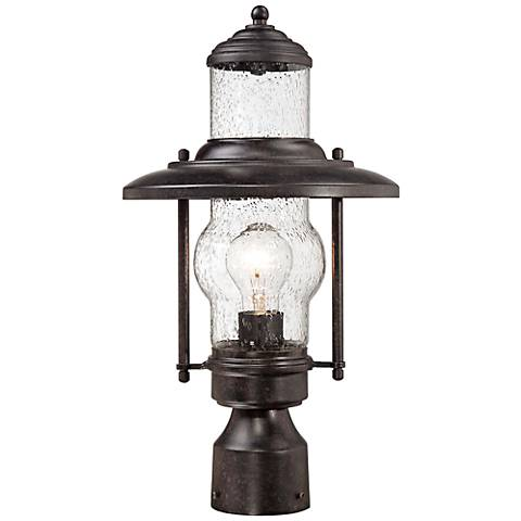 "Settlers Way 18 1/4"" High Bronze Outdoor Post Light"