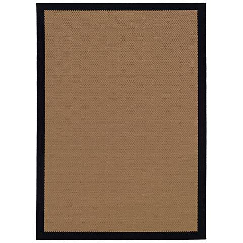 Lanai 525x5 Beige and Black Outdoor Area Rug