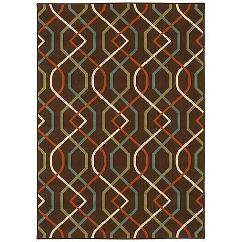 Oriental Weavers Montego Collection 896N6 Indoor-Outdoor Rug