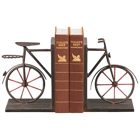 Bicycle Theme Bookends Set