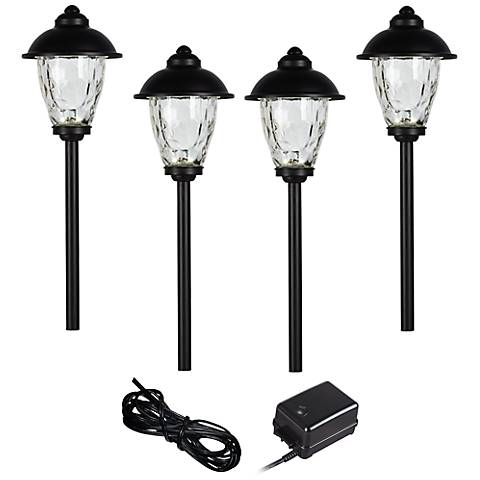 Concord 6-Piece Black Complete LED Landscape Lighting Set