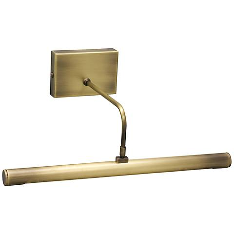 "House of Troy 12"" Brass Battery Powered LED Picture Light"