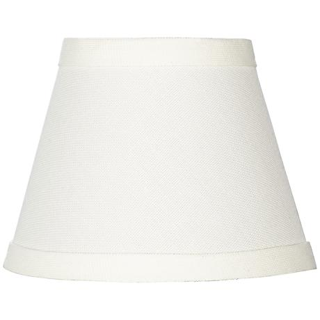 Cream Chandelier Shade 3x5x4 (Clip-On)