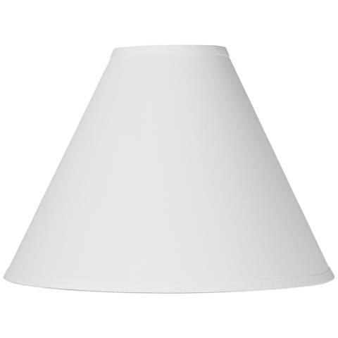 Antique White Linen Chimney Lamp Shade 5x15x11.5 (Spider)