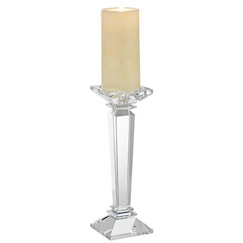 "Kaitlyn 11 1/4"" High Crystal Pillar Candle Holder"