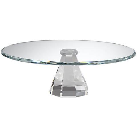 "Marlowe Crystal 11"" Round Pedestal Cake Stand"