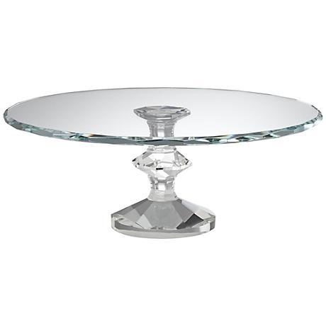 "Gala Crystal 11"" Round Pedestal Cake Stand"