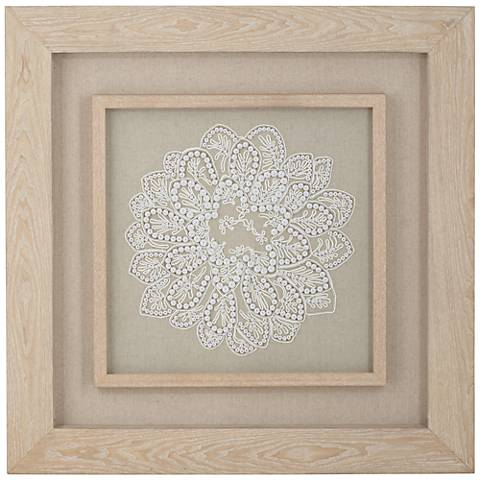 "Chrysanthemum 31 1/2"" Square Framed Floral Wall Art"