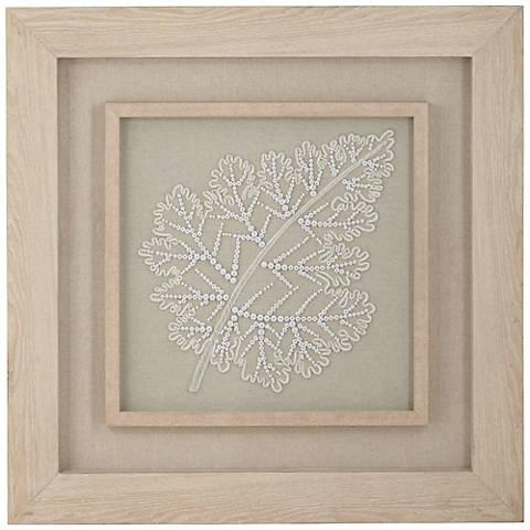 """Leaf 31 1/2"""" Square Framed Botanical Wall Art"""