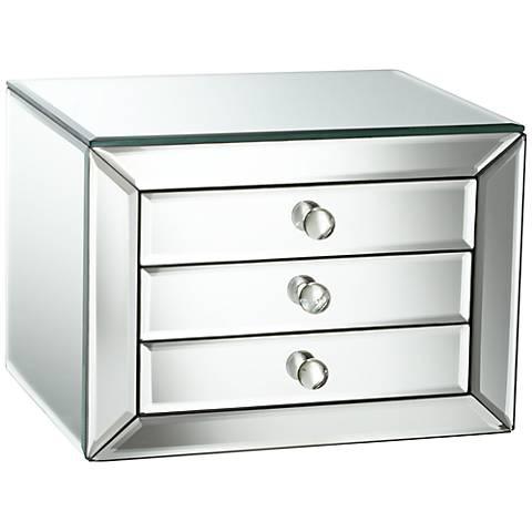Mirrored Glass 3-Drawer Jewelry Box