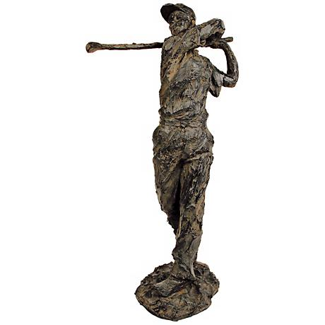 "Sterling Old Tom Morris Golf 18"" High Statue"
