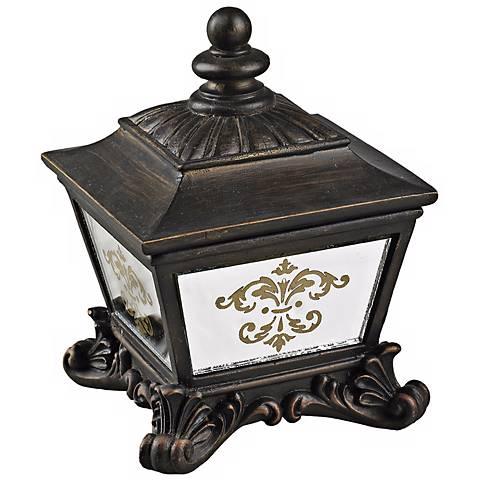 Mirrored Damask Bronze Keepsake Box