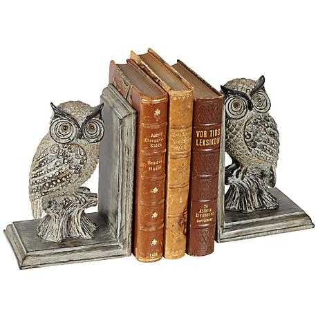 Perching Owl Bookends Set