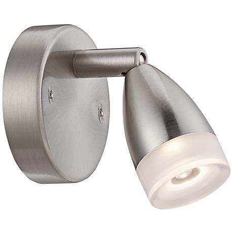 "LED 4 1/2"" Wide Bullet Satin Nickel Picture Light"