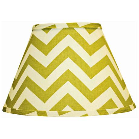 Village Green Chevron Empire Lamp Shade 8x14x10.25 (Spider)