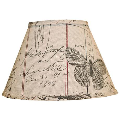 Antique Ledger And Fossil Lamp Shade 10x18x13 (Spider)