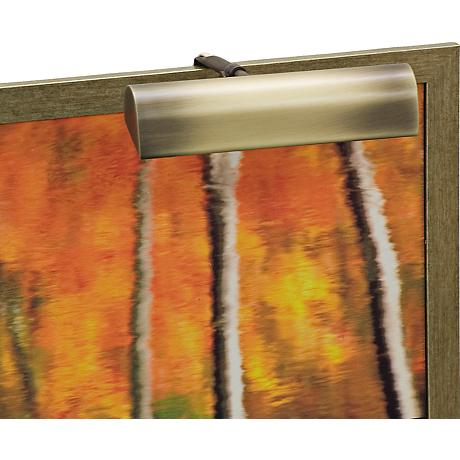 """House of Troy Traditional 8"""" Wide Brass Picture Light"""