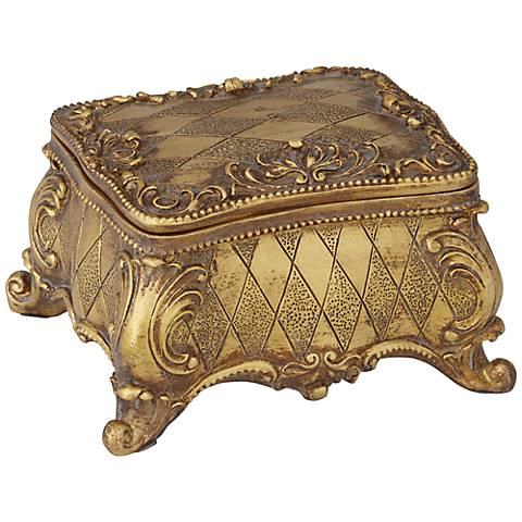 Woodruff Antique Copper Covered Box