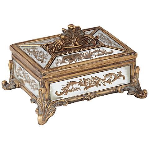 Woodruff Antique Copper Mirror Covered Box