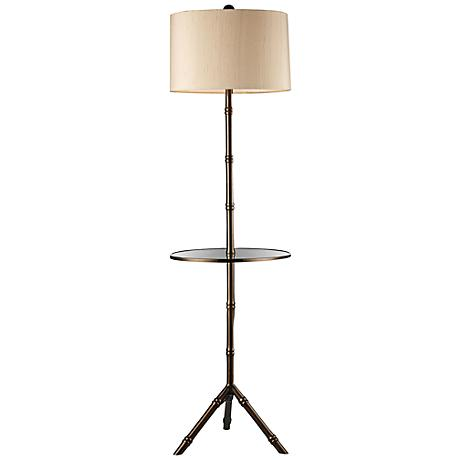 Dimond Stanton Dunbrook Bronze Floor Lamp with Tray Table
