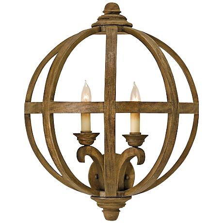 """Currey and Company Axel 20"""" High Convertible Wall Sconce"""