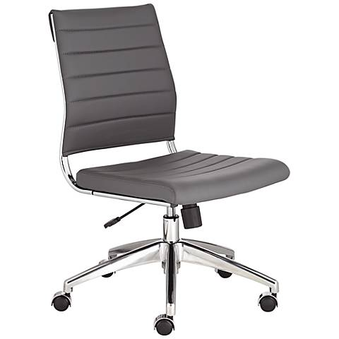 Axel Low Back Armless Gray Office Chair