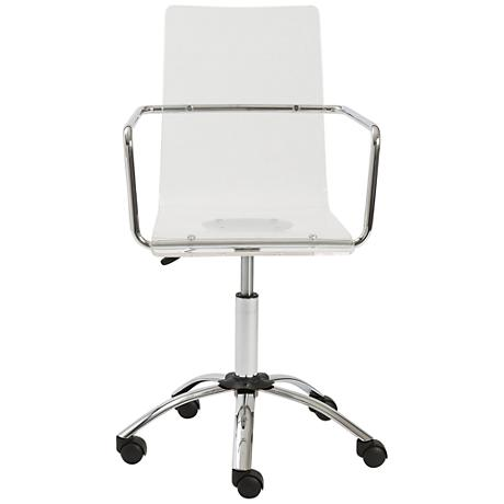 Chloe Chrome and Acrylic See-Through Clear Office Chair